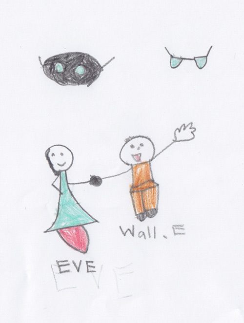 Wall-E and Eve as Humans